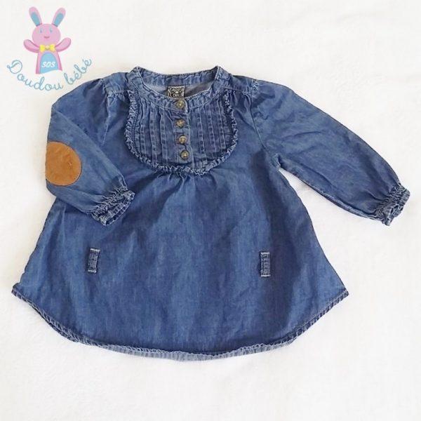 Blouse jean bleu bébé fille 3 MOIS TAPE A L'OEIL