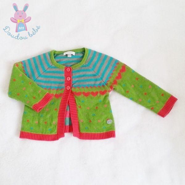 Gilet multicolore bébé fille 3 MOIS ABSORBA