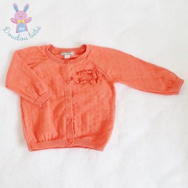 Gilet orange bébé fille 9 MOIS VERTBAUDET