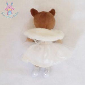 Doudou Biche Faon robe et fourrure blanc H&M