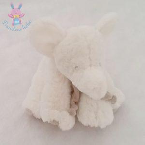 Eléphant blanc taupe DOUDOU ET COMPAGNIE