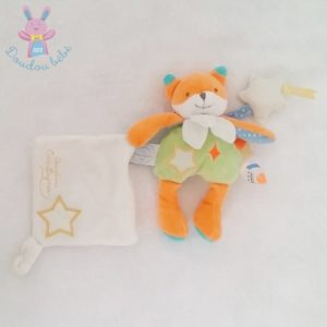 Renard orange vert Magic DOUDOU ET COMPAGNIE