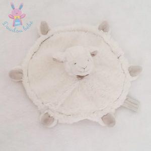 Mouton plat blanc taupe DOUDOU ET COMPAGNIE
