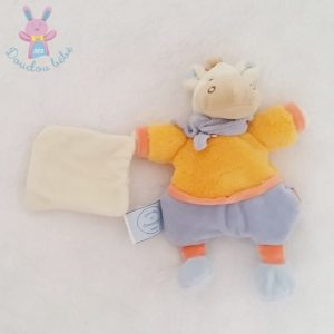 Ane orange mouchoir graine de DOUDOU ET COMPAGNIE
