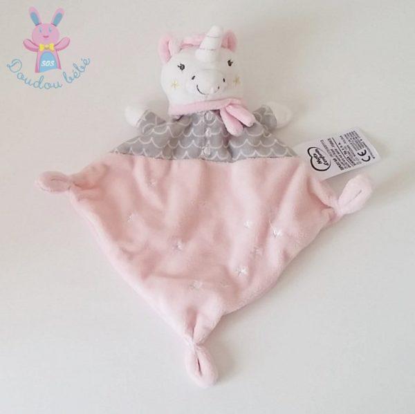 Doudou Licorne rose MOTS D'ENFANTS