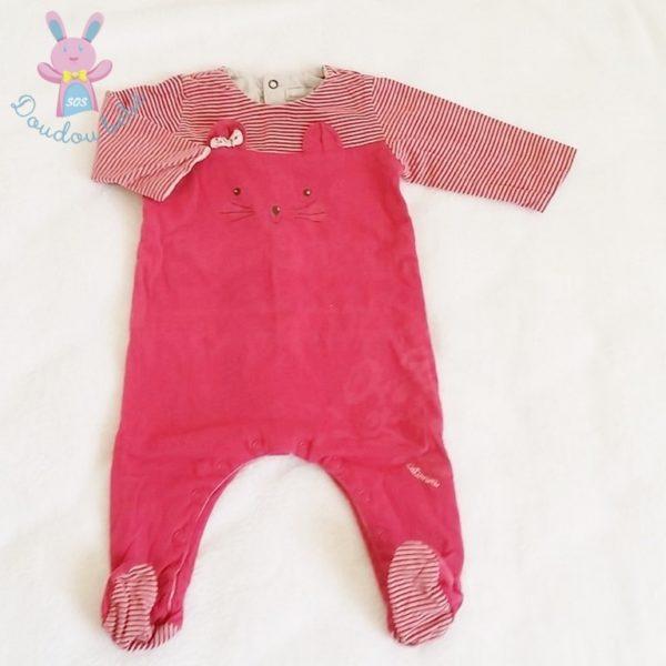 Pyjama rose chat bébé fille 12 MOIS CATIMINI