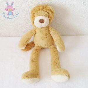 Doudou Lion fourrure marron beige 32 cm NICOTOY