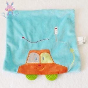 Doudou plat voiture orange bleu dentition KIABI JOGYSTAR