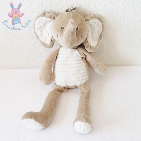 Doudou éléphant beige NICOTOY
