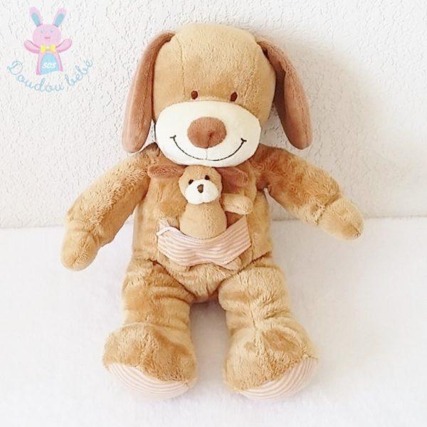 Doudou Chien marron bébé NICOTOY