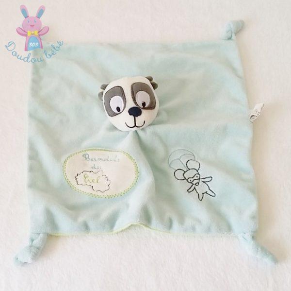 Doudou plat Panda bleu NICOTOY