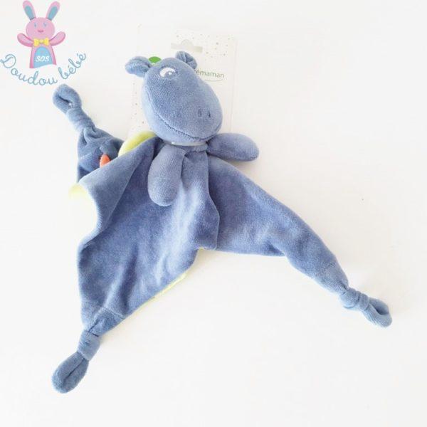 Doudou plat Dragon bleu ORCHESTRA