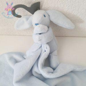 Doudou Lapin bleu couverture PRIMARK EARLY DAYS