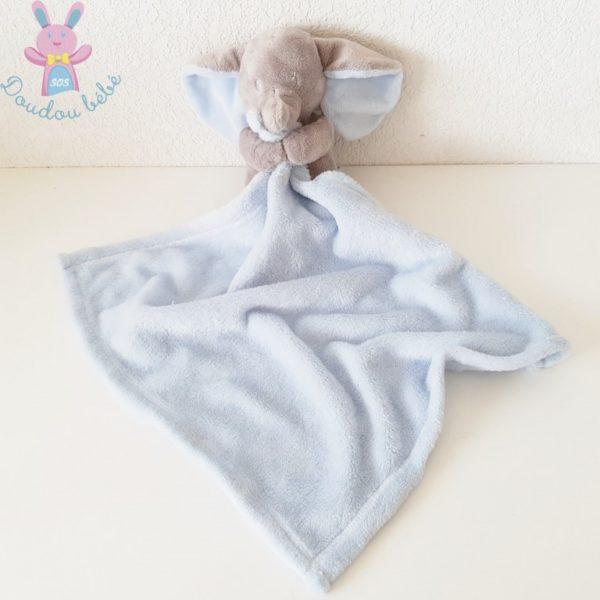 Doudou éléphant bleu gris NICOTOY