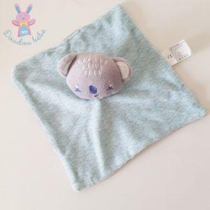 Doudou plat Koala bleu gris et SIPLEC LECLERC