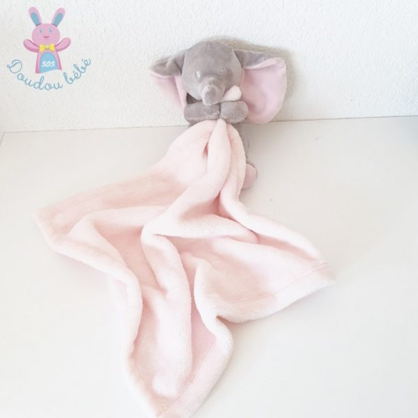 Doudou éléphant gris rose SIMBA NICOTOY