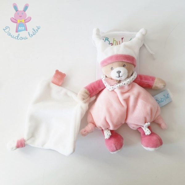 Doudou Ours Brioche rose BABY NAT