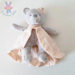 Doudou Souris gris robe lange rose étoiles CYRILLUS