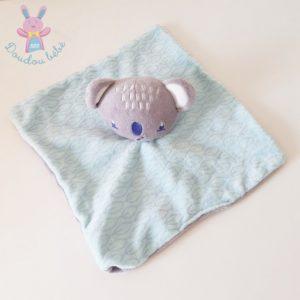 Doudou plat Koala bleu et gris SIPLEC LECLERC