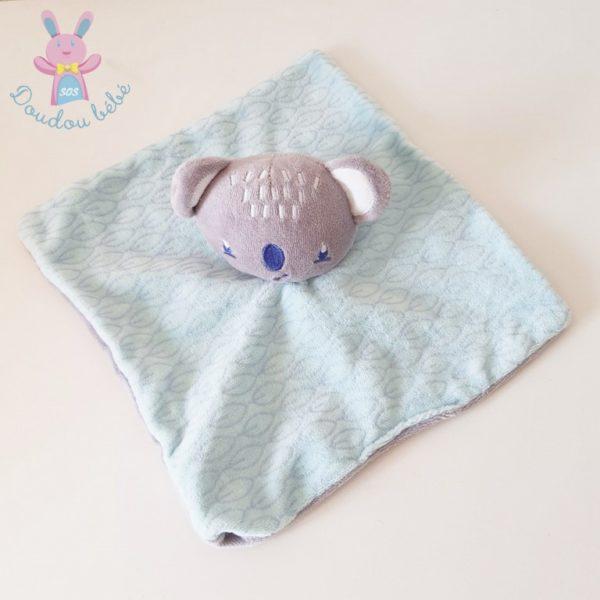 Doudou plat Koala bleu SIPLEC LECLERC