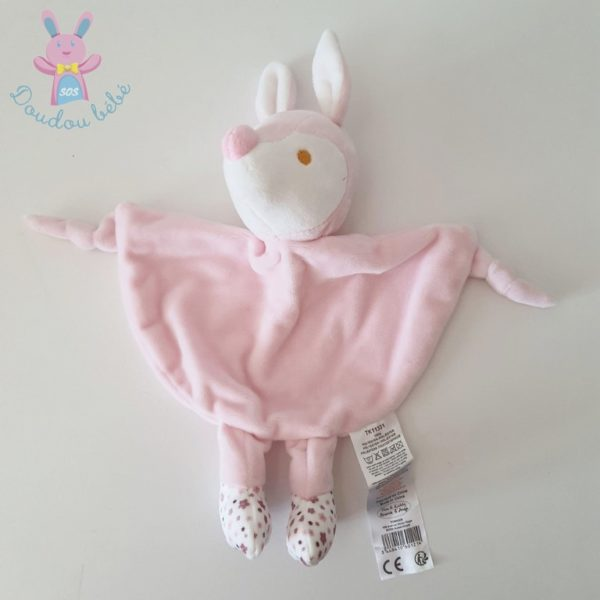 Doudou plat Biche rose TOM & KIDDY