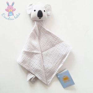 Doudou plat Koala lange tissu gris BOUT'CHOU MONOPRIX