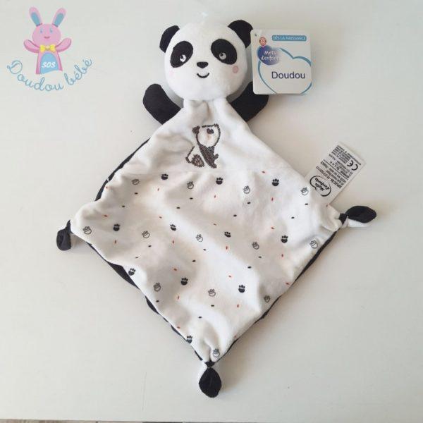 Doudou plat Panda noir blanc MOTS D'ENFANTS