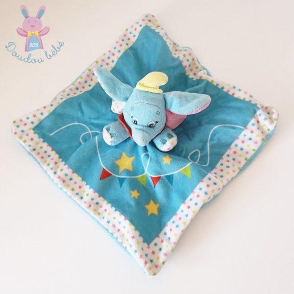 Doudou plat Dumbo bleu DISNEY
