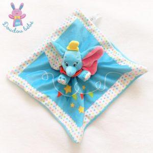 Doudou plat éléphant Dumbo bleu étoiles DISNEY