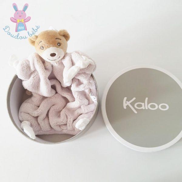 Doudou plat Ours plume naturel KALOO