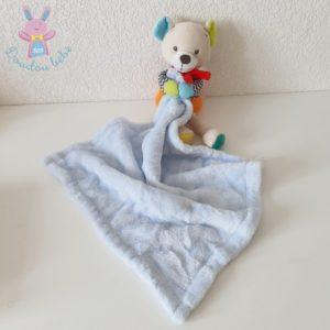 Doudou Ours couverture mouchoir bleu SIMBA NICOTOY