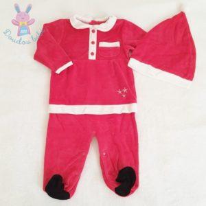 Pyjama tenue de Noël rouge + Bonnet bébé fille 12 MOIS