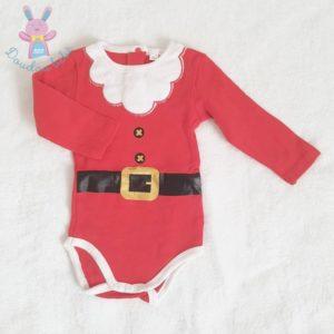 Body de Noël rouge et blanc bébé 12 MOIS