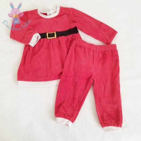 Ensemble robe de Noël rouge bébé fille 2 ANS H&M