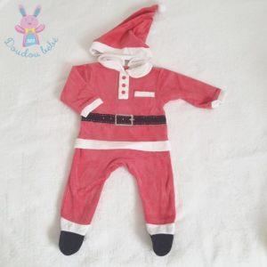 Pyjama de Noël rouge blanc + Bonnet bébé 3 MOIS