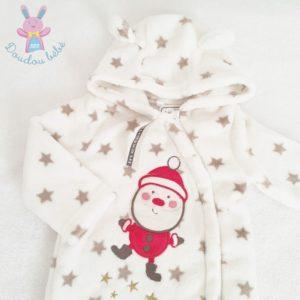 Surpyjama de Noël polaire blanc étoiles bébé 9 MOIS