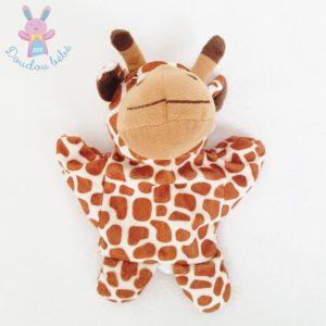 Doudou marionnette Girafe marron écru MAISONS DU MONDE