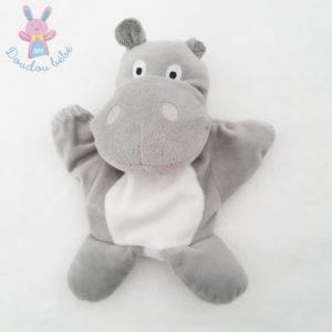 Doudou marionnette Hippopotame gris blanc MAISONS DU MONDE