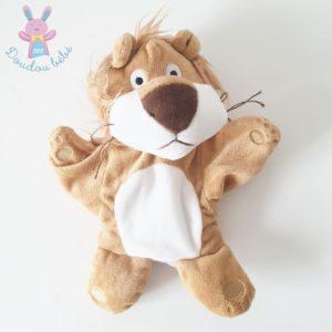 Doudou marionnette Lion marron blanc MAISONS DU MONDE