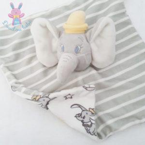 Doudou plat éléphant Dumbo rayé gris DISNEY by PRIMARK