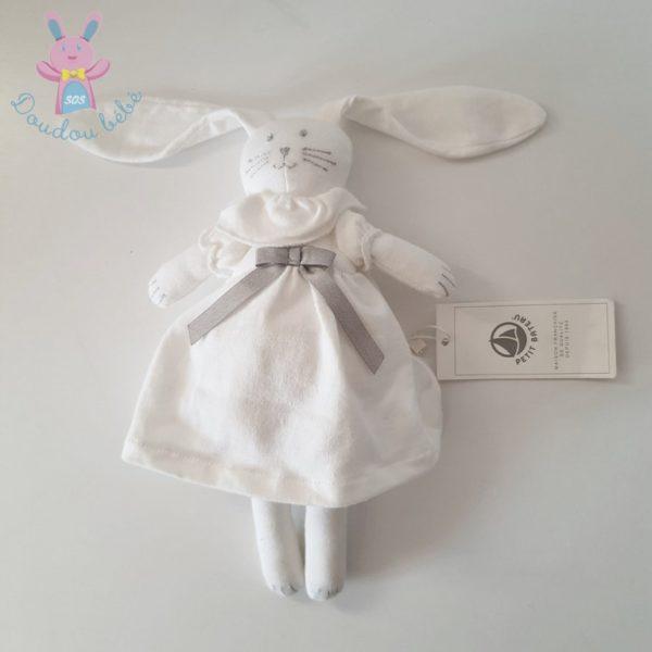 Doudou Lapin blanc robe PETIT BATEAU
