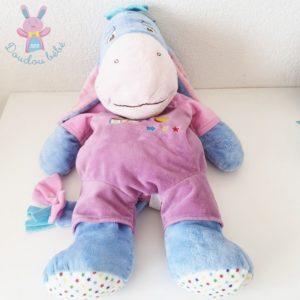 Doudou Ane Bourriquet range-pyjama bleu mauve ABC DISNEY