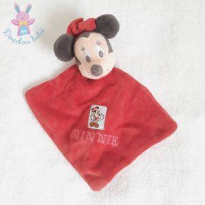 Doudou plat Minnie Noël rouge et noir DISNEY