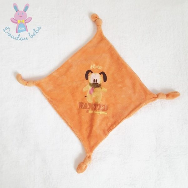 Doudou plat Pluto orange wanted DISNEY