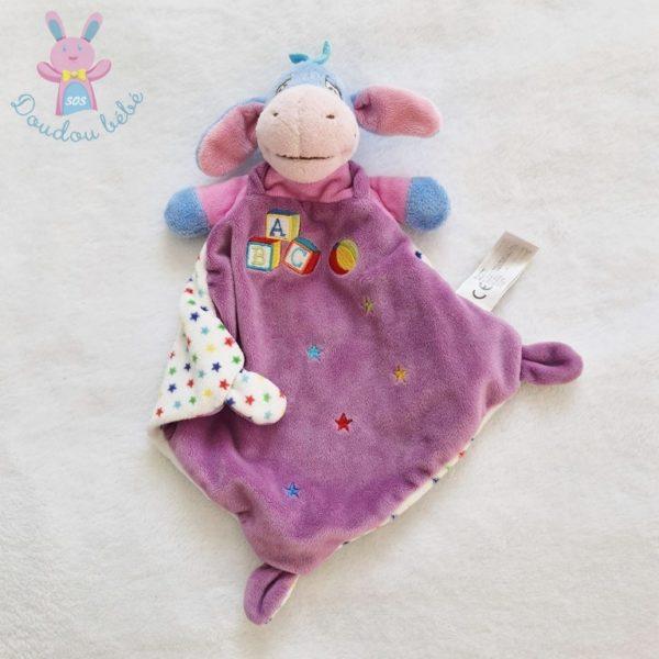 Doudou plat Bourriquet violet ABC DISNEY