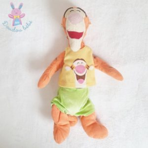 Doudou Tigre Tigrou orange jaune vert 34 cm DISNEY