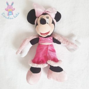 Doudou Minnie rose avec boa 28 cm DISNEYLAND DISNEY
