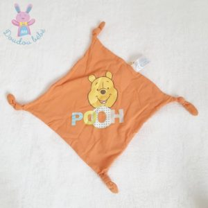Doudou plat Winnie Pooh tissu orange DISNEY CARREFOUR