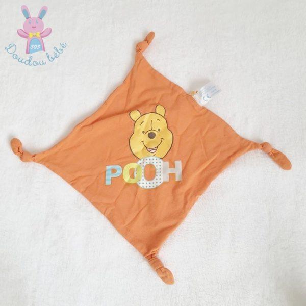 Doudou plat Winnie pooh orange DISNEY