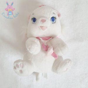 Doudou Chat Marie blanc rose tétine aimantée DISNEY DISNEYLAND